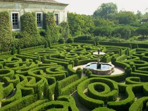 Garden Maze, Portugal, Europe by Westwater Nedra