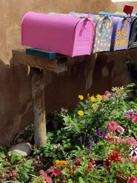 Mail Boxes, Santa Fe, New Mexico, United States of America, North America by Westwater Nedra