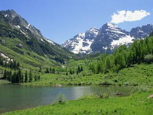 Maroon Lake Near Aspen, Colorado, United States of America, North America by Westwater Nedra