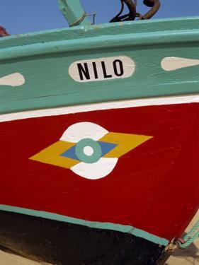 Stylized Eye on Fishing Boat, Algarve, Portugal, Europe by Westwater Nedra