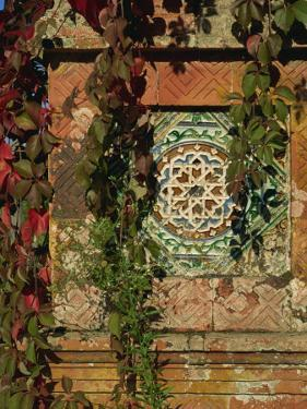Tiled Panel on Decorative Column in Moorish Gothic Style, Quinta, Monserrate, Sintra, Portugal by Westwater Nedra