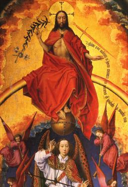 Weydon Christ With the Archangel Michael Art Print Poster