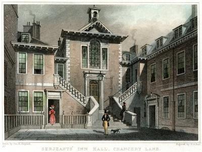 Serjeants' Inn Hall, Chancery Lane, London, C1830