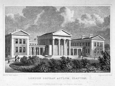View of the London Orphan Asylum in Clapton, Hackney, London, 1828