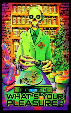 What's Your Pleasure - Medical Marijuana Pot Dispensary Blacklight Poster