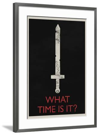 What Time Is It? Retro--Framed Art Print