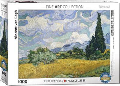 Wheat Field with Cypresses by Vincent van Gogh 1000 Piece Puzzle