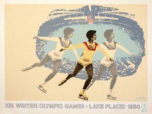 Lake Placid 1980 Figure Skater by Wheeler