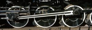 Wheels of a Steam Engine on the Railroad Track, Flagstaff, Coconino County, Arizona, USA