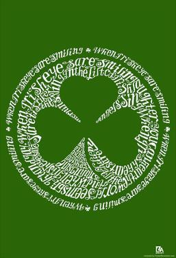 When Irish Eyes Are Smiling Text Poster