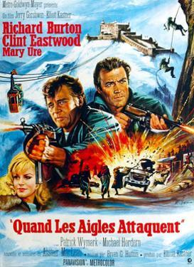 Where Eagles Dare, from Left, Mary Ure, Richard Burton, Clint Eastwood, 1968