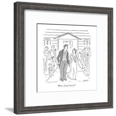 """Whew!  At last, I can eat!"" - New Yorker Cartoon-Kim Warp-Framed Premium Giclee Print"