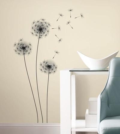 Whimsical Dandelion Peel and Stick Giant Wall Decal