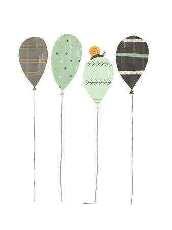 Whimsical-Style Balloons with Snail