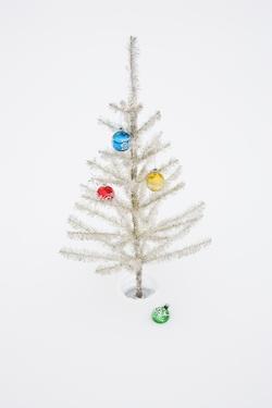 White Christmas Tree in Snow