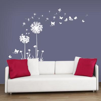 White Dandelion with Butterflies Kid