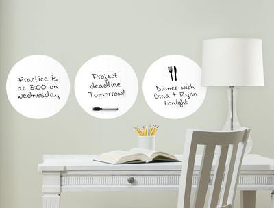 White Dry Erase Dots. Wall Decal