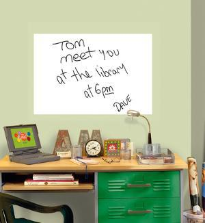 White Dry-Erase Message Board Decal Sticker