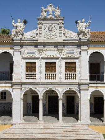 Evora University Arcaded Courtyard, Evora, Alentejo, Portugal, Europe