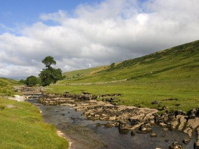 River Wharfe, Upper Wharfedale, Yorkshire Dales National Park, North Yorkshire, England, UK