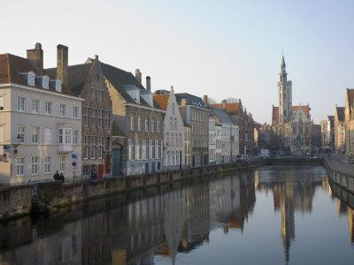 Spielgelrei Near Van Eyckplein, Looking East, Bruges, Belgium, Europe