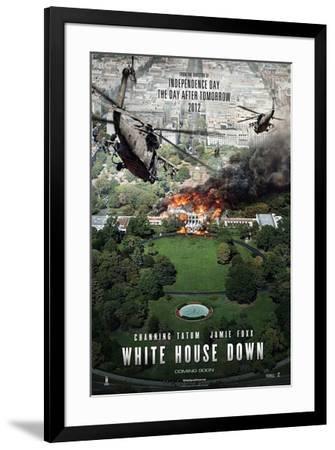 White House Down (Channing Tatum, Jamie Foxx, Maggie Gyllenhaal) Movie Poster--Framed Poster