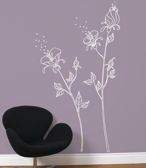 White Pollen Transfer Wall Decals