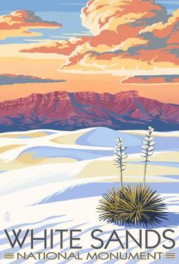 White Sands National Monument, New Mexico - Sunset Scene