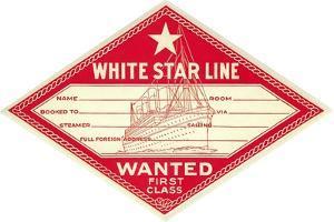 White Star Line Luggage Tag