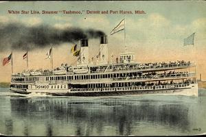 White Star Line, Steamer Tashmoo, Detroit, Port Huron