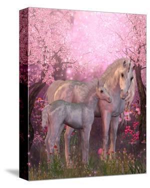 White Unicorn Mare and Foal