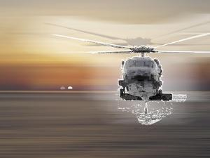 Helicopter over Water by Whoartnow
