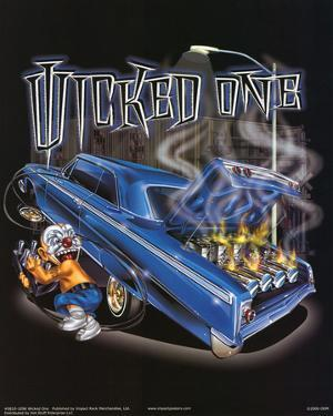 Wicked One (Car on Fire) Art Poster Print