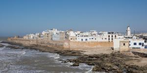 Wide View of the Old Part of Essaouira Seen from the Top of the Skala Du Port, Morocco