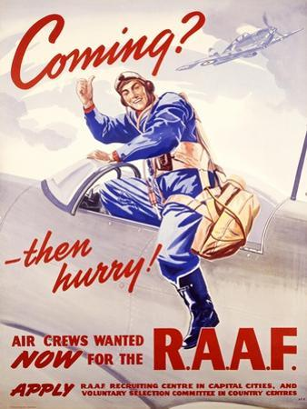 WII Royal Air Force Recruiting Poster