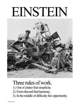 Einstein; Three Rules of Work by Wilbur Pierce