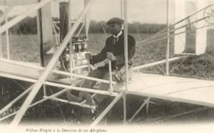 Wilbur Wright at the Controls