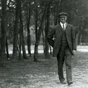 Wilbur Wright in France, 1909