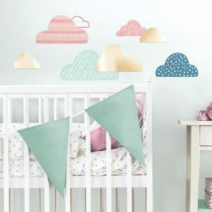 Wild and Free Clouds Peel and Stick Wall Decals with Mirrors