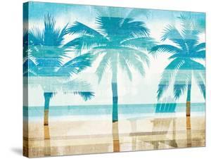 Beachscape Palms With Chair by Wild Apple Portfolio