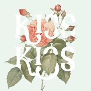 Botanical Pink Rose I Kiss by Wild Apple Portfolio