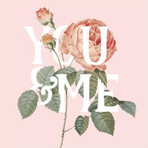 Botanical Pink Rose II You by Wild Apple Portfolio