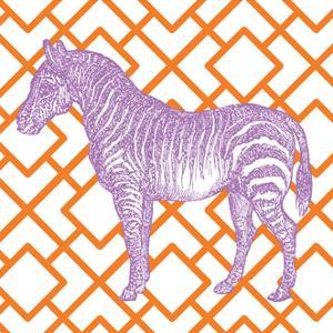 Bright Menagerie Zebra by Wild Apple Portfolio