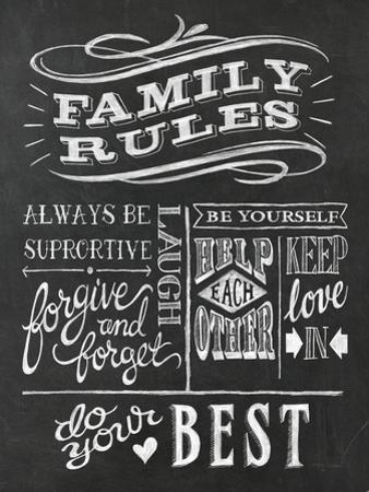 Family Rules I V2 by Wild Apple Portfolio