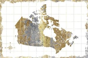 Gilded Map Canada by Wild Apple Portfolio