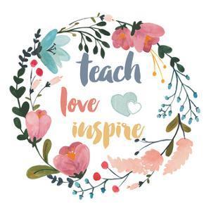 Harriet Floral Teacher Inspiration I by Wild Apple Portfolio