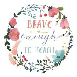 Harriet Floral Teacher Inspiration II by Wild Apple Portfolio