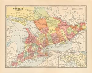 Map of Ontario by Wild Apple Portfolio