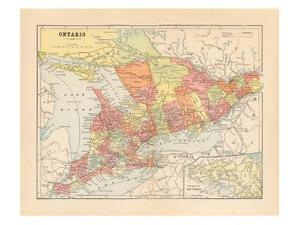 Map of Ontario by Wild Apple Portfolio