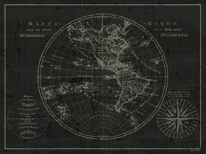 Mappemonde Etching v2 by Wild Apple Portfolio